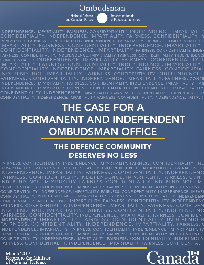 The Case for a Permanent and Independent Ombudsman Office Report Cover